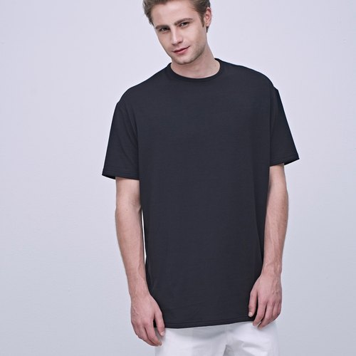 Stone @ S Basic T-shirt (LONG) In Black / Long Black Tee T-shirt