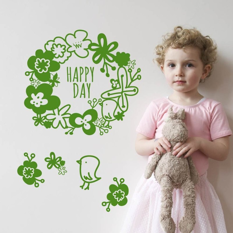 """Smart Design"" Creative Seamless elegant garden wall stickers ◆ 8 color options"