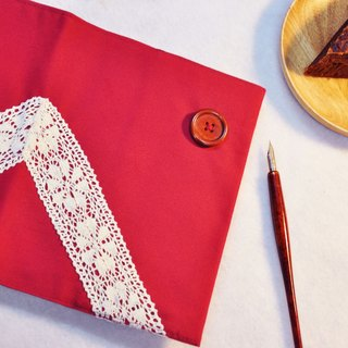 Hand-made book clothing book [the end of the franchise time] festive red canvas section (Big Ben = A5)