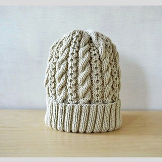 Wakaba colored cotton wool knit cap