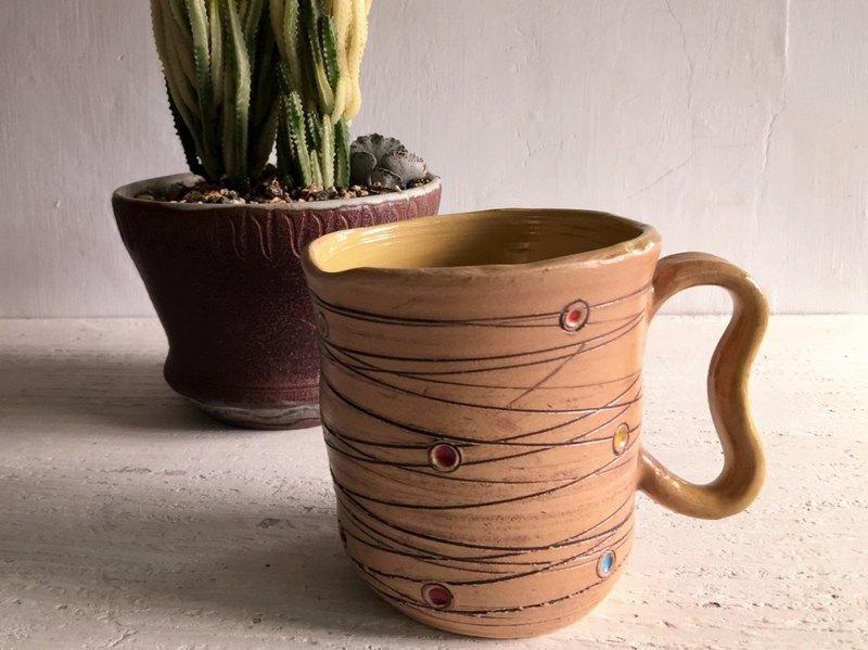小行星與軌道咖啡杯_陶器馬克杯