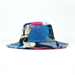 Maverick Village Calf Village Men's and Women's Handmade Double-sided Hat Customized Gentleman's Hat Neutral Blue Colors Ancient Style {Fashion Antique} Blue Black 【H-383】