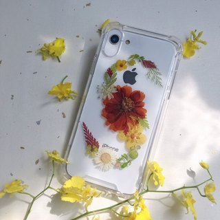 S for Sonia::initial pressed flower phonecase