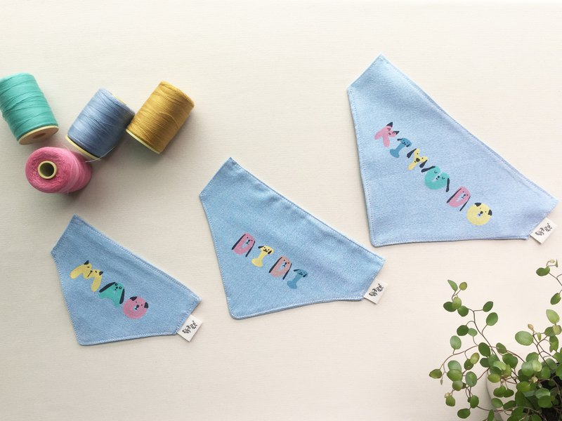 [Christmas gift] Customized name ABC dog pet scarf