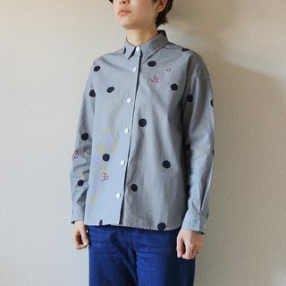 Gingham Check Shirt <Dots and plums>