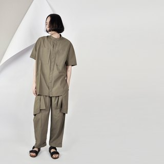 AFTER - Loose shoulder shoulder asymmetrical shirt