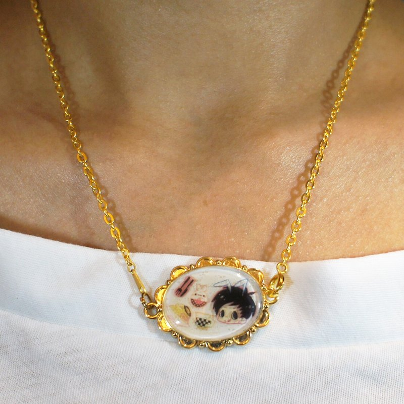 Dreams Handmade Jewelry Series - ToosB Rabbits Make Transparent Crystal UV Jewelry Necklace