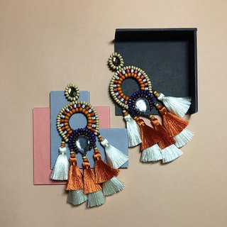 earrings : boho chic x2nd orange l white