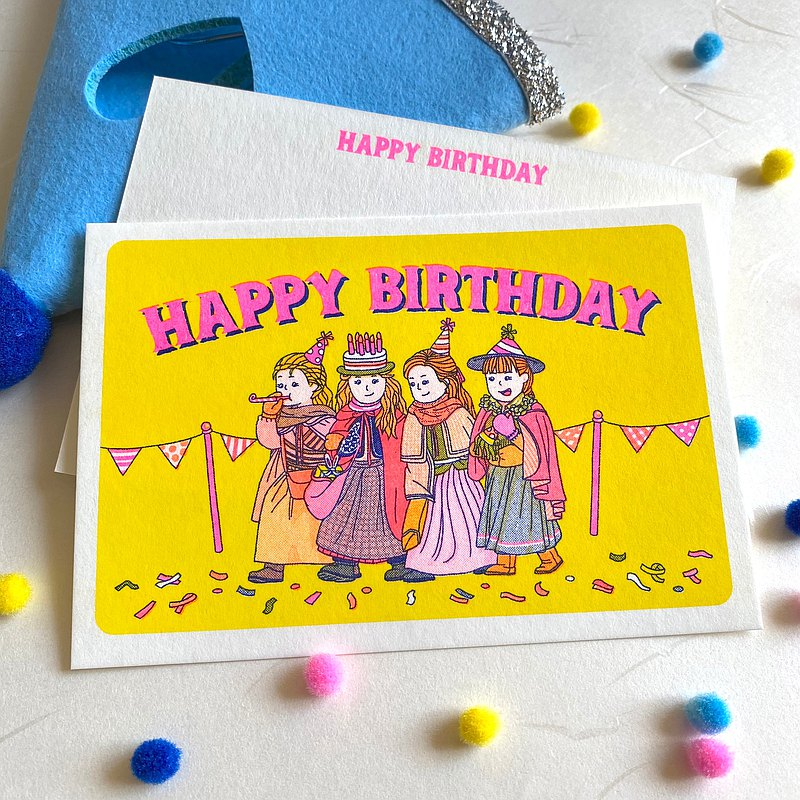 Risograph birthday card