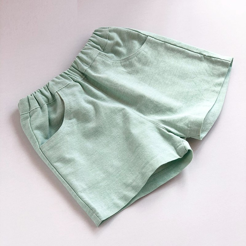 Girls summer pink green classic neat shorts