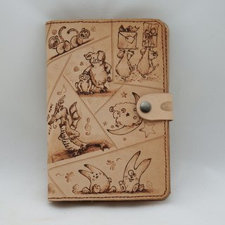 Hand-made leather notebook book book book book - zodiac