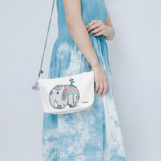 Cotton Canvas Denim Across-Body Bag - Elephant And Cactus Daddy