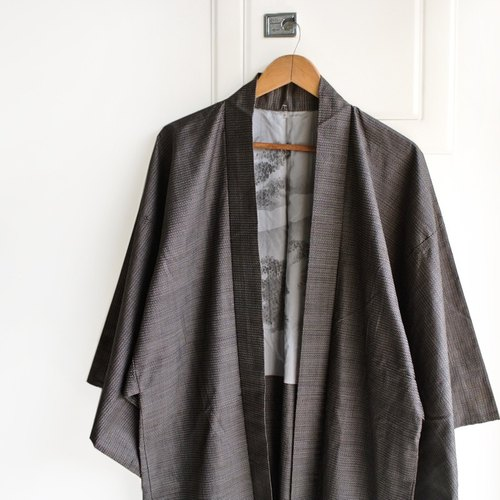 │Slowly│ Japanese Antiques - Light kimono coat G5│ .vintage retro vintage theatrical...