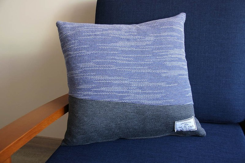 Knotted Pillow - South of the Border - Ocean Blue