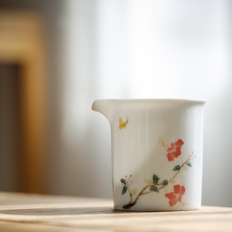 Speaking of Jingdezhen pure hand-painted underglaze color cup of Zhu Xi