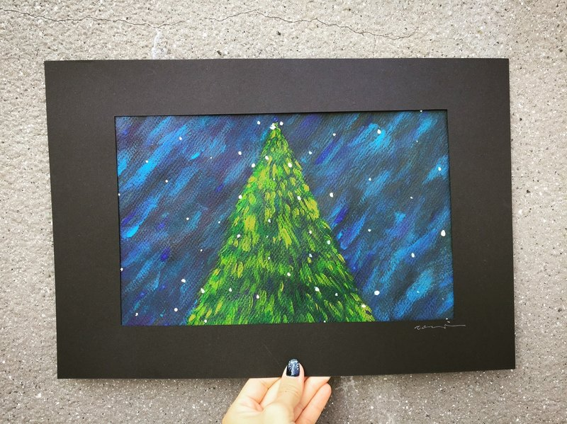 Christmas month with a christmas tree-illustration
