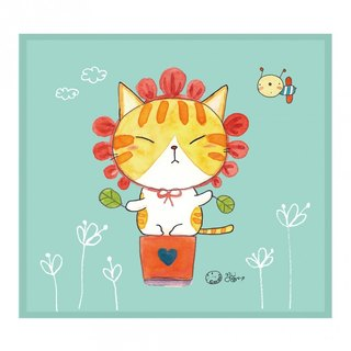 Illustrator Series Cat p - round flower ll pretend Wipes