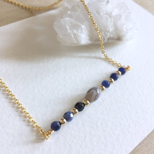 Vintage Blue  LapisLazuli  Necklace