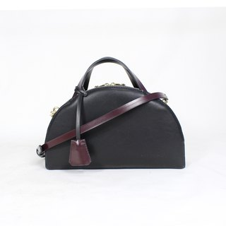 Zemoneni leather handmade lady bag with lock
