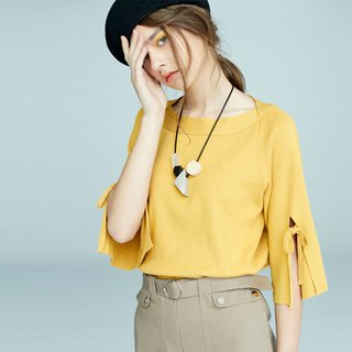 AEVEA Sleeve Tie Knit Top