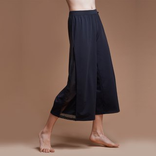 [MACACA] Bohemian Yoga Wide Pants - BQE8053 Black