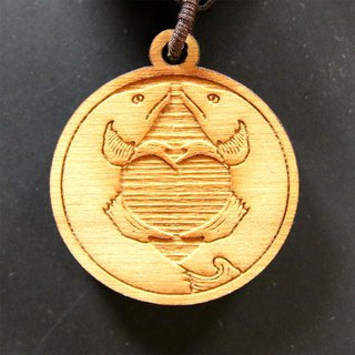 [Tibet] cypress wood with eight Swiss blessings Charm - Pisces (tie the knot)