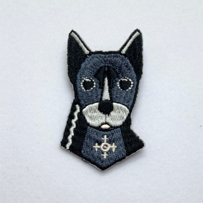 [Forest Animal Series] Q version black dog embroidered pin