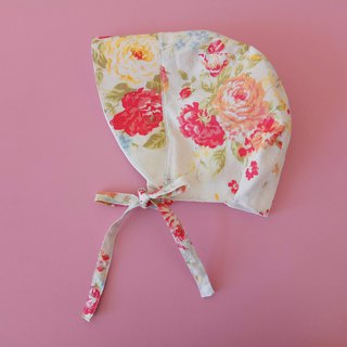 Big flower three-dimensional cut straps baby visor Mi Yue gift strap baby cap