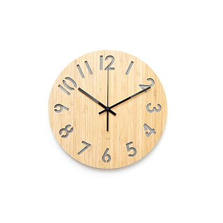 LOO Rotated Numbers Wall Clock Gray