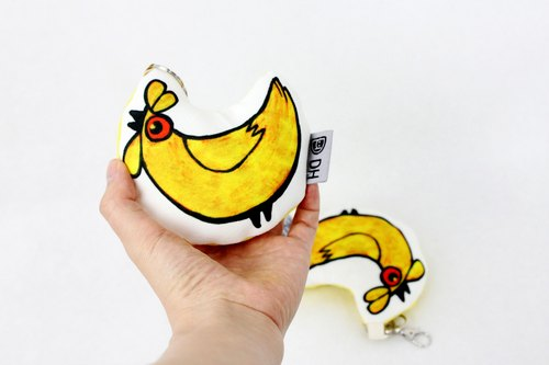 Chicken pole Qian Jin! Strap / wrist pillow / yellow