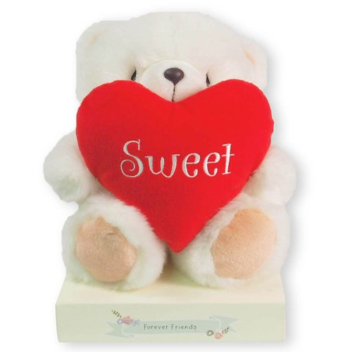 FF 8-inch nap / sweet bear holding heart [Valentine's Day]