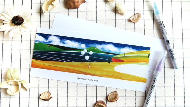 The Ineffable Travel - Cliff in the Air Greeting Card