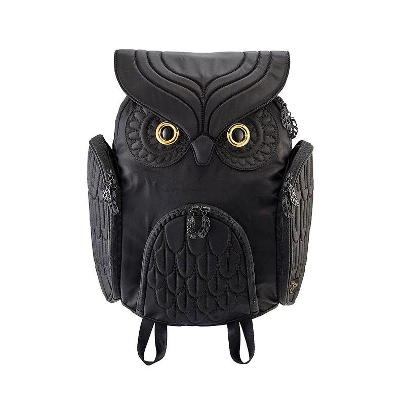 Morn Creations Original Genuine Classic Owl Backpack-Black (L) OW-301
