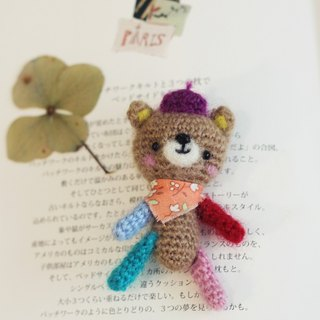 Hand-woven bear doll pins. Suitable for 1/6 doll shooting props