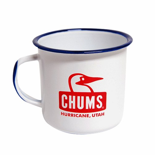Exchanging gifts CHUMS Japan 320ml Booby enamel mug cup white temperament [S]