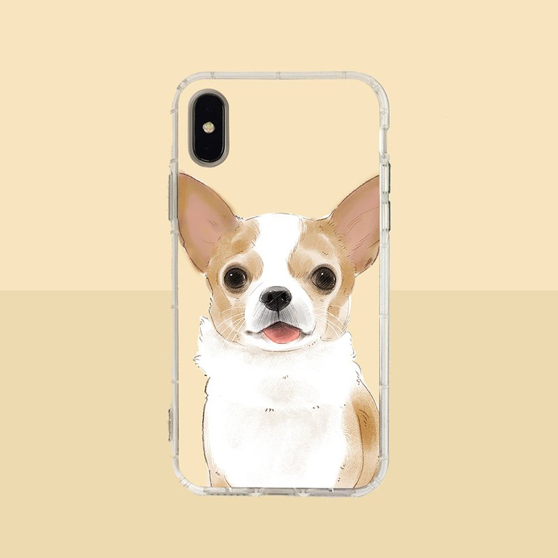 Big face Chihuahua embossed air shell-iPhone/Samsung, HTC.OPPO.ASUS pet phone case