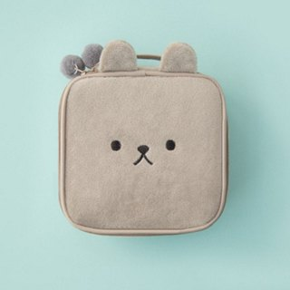 Bentoy x Plush Animal - Large Capacity Cosmetic Bag (Grey)