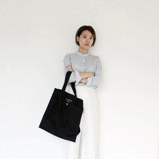 Navy two-way tote bag