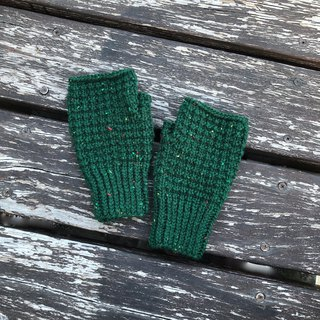 Xiao fabric hand-woven color point wool mitt Christmas green