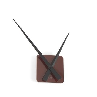 LOO DIY Wall Clock . Brown