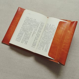 This skin / book cover Italian vegetable tanned leather red brown dyeing design handmade leather custom