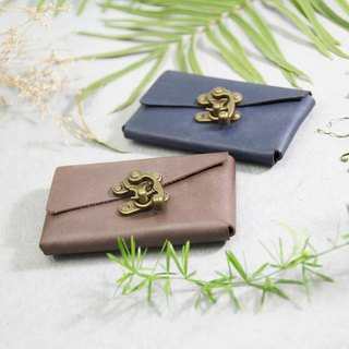 森下树SENSIASHU / horn corner business card coin purse / a total of 11 colors / Italian yak leather