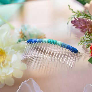 Makeup plate braided fork / hairpin / hair comb - wave