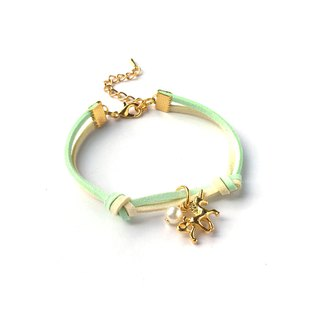 Handmade Simple Stylish Unicorn Bracelets Gold Series–light green