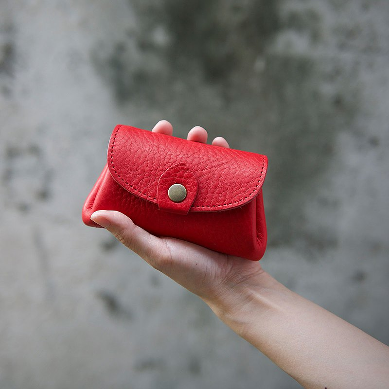 手握零錢包 Coin Purse / 紅色 Red