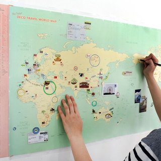 Around the World Map Poster (Double Layer)-07 Mint Green Edition (limited to home), IDG70282