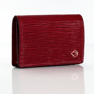 [La Fede] 植鞣-AQUA Series-Business Card Holder-Deep Wine Red