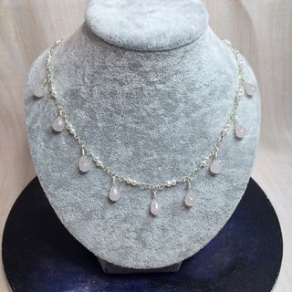 Creative handmade crystal pearl necklace pearl-type section section 925 silver custom birthday gift [beauty tears]