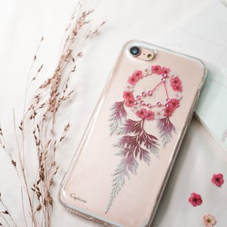 Capricorn Pressed Flower Dreamcatcher Phone Case | 12 Zodiac