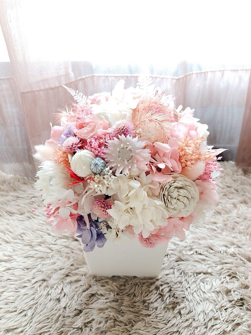 Eternal life flower eternal life rose healing small potted dry flower potted pink wedding small things exchange ceremony